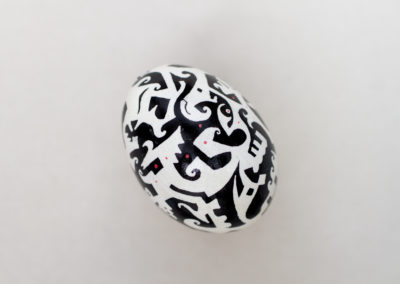 Fluctuating Black and White (Chicken Egg)