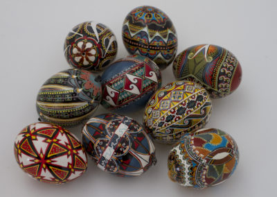 Collection including 40 Triangles and River in the front, from above (Chicken Eggs)